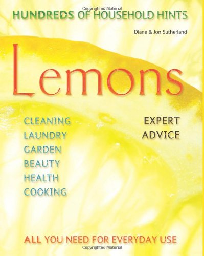 Lemons  - hundreds of household hints. Book Cover.