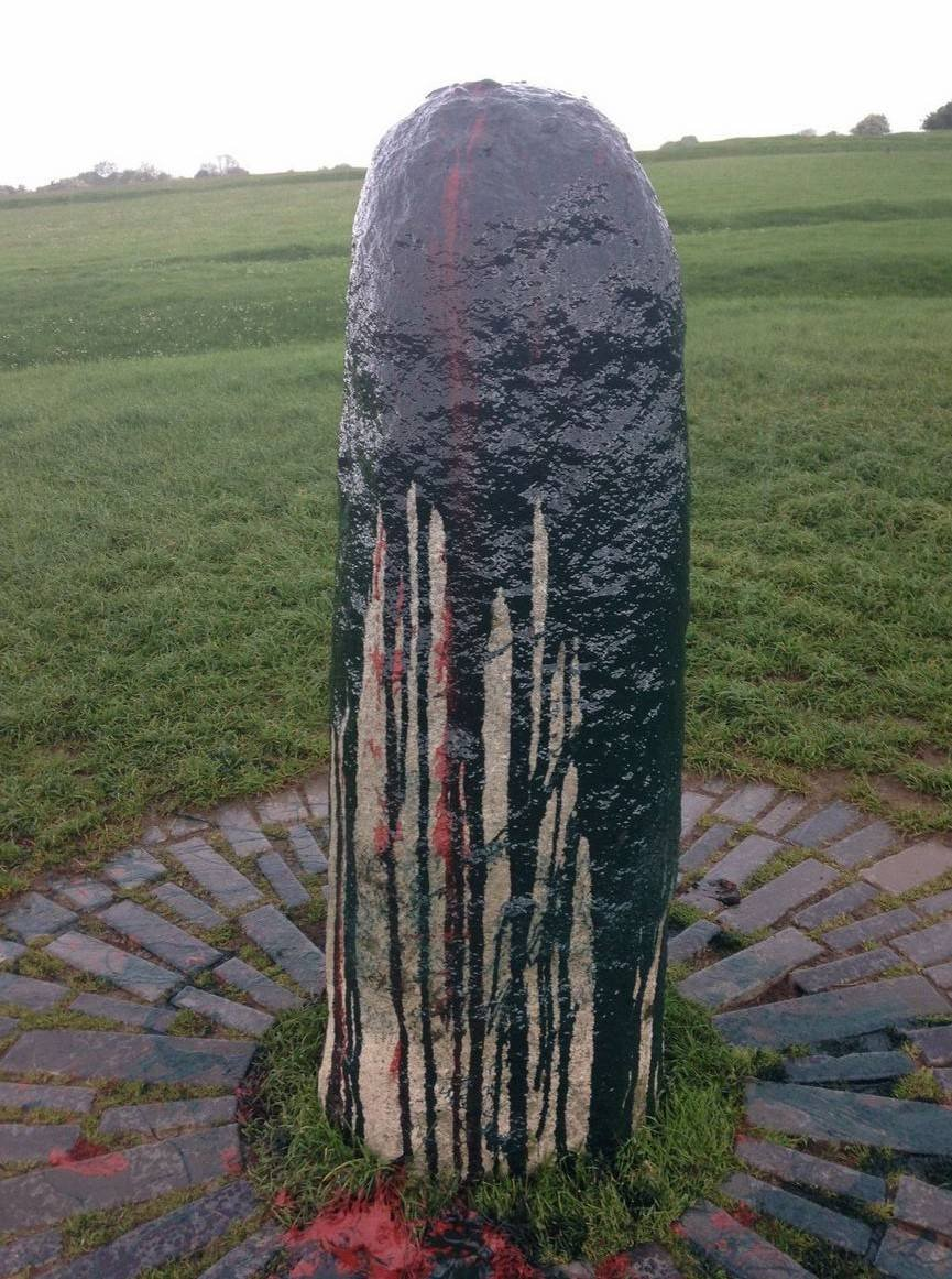 Hill of Tara stone vandalised
