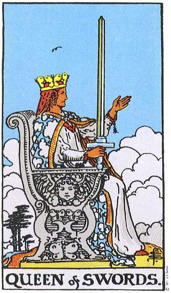 Queen of Swords Tarot Card