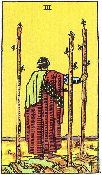 Three of Wands Tarot Card