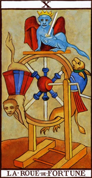 Wheel of Fortune from the Marseilles Tarot Deck