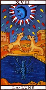 The Moon from the Marseilles Tarot