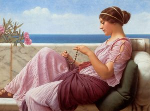 We couldn't find a royalty free image of hair so we're using this nifty painting from Godward. See - she didn't have toxic shampoos and her hair is just fine. Point proven.