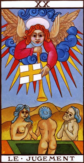 Judgement card from the Marseilles Tarot Deck
