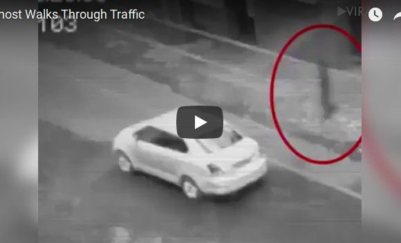 Ghost captured on CCTV walking through traffic