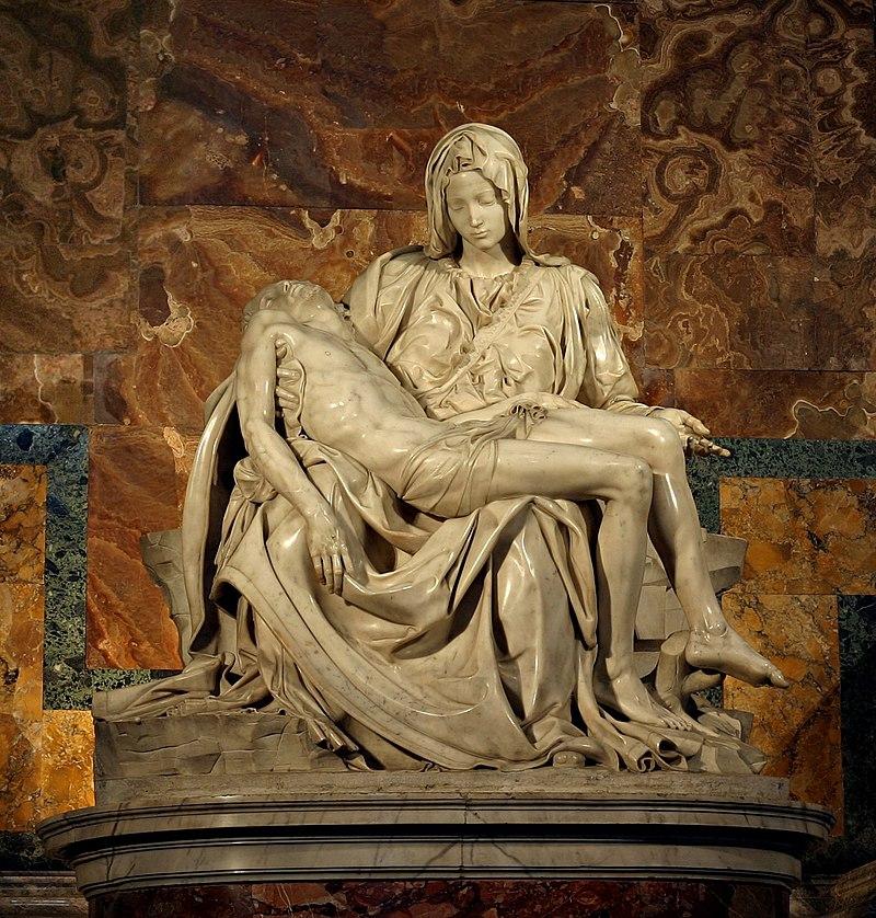 Pieta sculpture by Michelangelo
