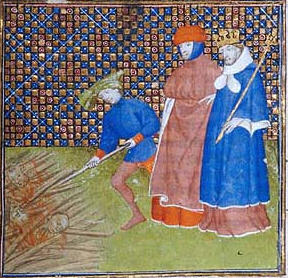 The burning of Cathars, considered heretics