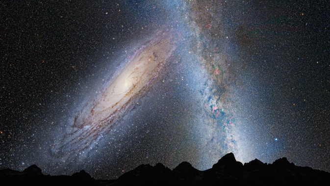 Nasa thinks our Milky Way Galaxy and Andromeda will eventually collide in about 4 billion years.