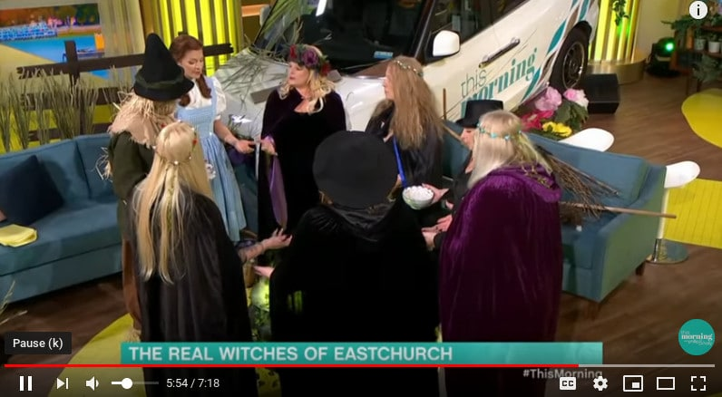 The Witches of East Church begin their ritual on This Morning