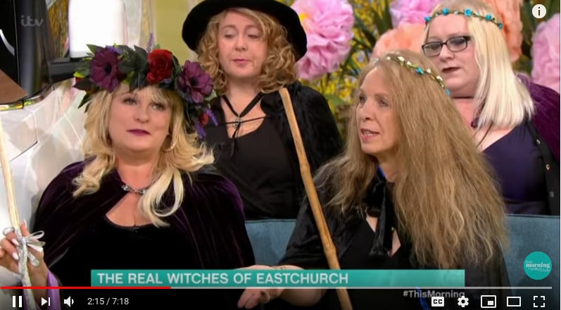 Image from This Morning Witches of East Church