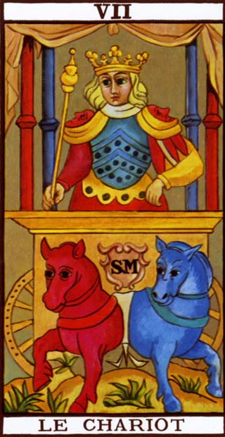 The Chariot from the Marseille Tarot Deck